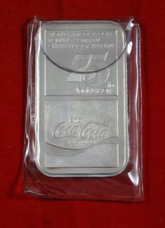The bar is for the Nashville, TN Bottling Co. 'the First Bottler's Contract for Coca-Cola'. Silver Investing, World Of Coca Cola, Silver Bars, Coke, Collection, Coca Cola, Cola
