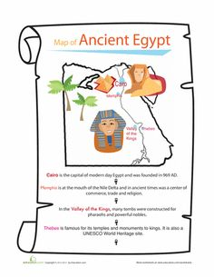 Worksheets: Ancient Egypt Map About This Worksheet Think you know ancient Egypt? Get all the dirt (or should we say sand?) on one of the most famous ancient cultures in this trivia and quiz worksheet.