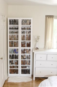 Ikea Billy als Schuhregal, Ikea Hack, Check more at tricksun. Ikea Billy als Schuhregal, Ikea Hack, Check more at tricksundtipps. Closet Organisation, Home Organization, Organizing Shoes, Shoe Organizer Closet, Closet Shoe Storage, Organizing Ideas, Shoe Storage Cabinet With Doors, Hair Product Organization, Shoe Organiser