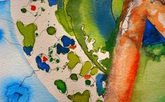 Fragmento de Mundos* Acuarela Watercolor/Ink