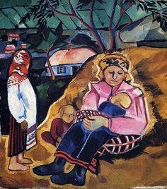 1910 Natalia Goncharova (Russian artist, 1881-1962) Mother