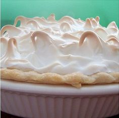 Lemon Meringue Pie - Mix together 1 pkt Tennis biscuits, 90g butter, melted, 1 tin condensed milk, 2 eggs (separated) Juice of 2 lemons (must use fresh lemons or filling will not set), 30ml castor sugar. Beat egg yolks, still beating, add condensed milk & lastly lemon juice. Mixture should be very thick. Whisk egg whites till stiff & fold into castor sugar. Pour into crumb base, top with meringue mixture. Bake at 150ºc until meringue turns golden brown. Chill before serving.