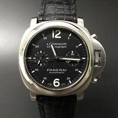 Panerai Pam 310 Luminor Chronograph. #watchporn #watchmania #wristwatch #watchoftheday #timepiece #secondhand #instawatch #secondoriginalwatch #jamtanganseken #preownedwatch #luxurywatch. www.mulialegacy.com
