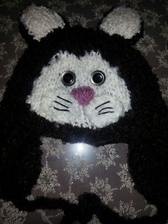 knitted animal hat cat