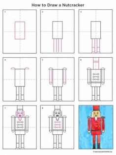 How to Draw a Nutcracker- visual perceptual and fine motor integration skills