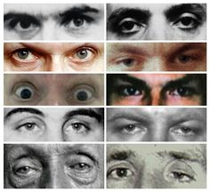 Eyes of 10 different serial killers