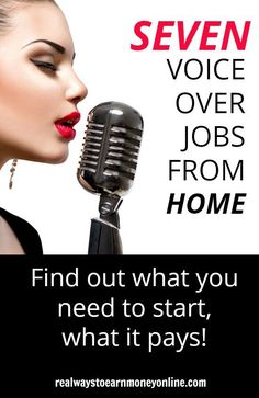 Are you interested in voice over jobs from home? We've outlined a list of seven companies that need voice over artists as well as info on getting started. Work From Home Companies, Work From Home Opportunities, Work From Home Jobs, Earn Money From Home, Way To Make Money, Voice Acting, The Voice, Job Posting, Investing Money