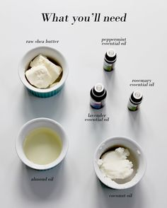 Make Your Own Body Scrub, Body Butter and Lip Balm - AO Life by Kimberly Duran Homemade Body Butter, Whipped Body Butter, Homemade Soap Recipes, Homemade Face Lotion, Shea Butter Lip Balm, Homemade Face Moisturizer, Natural Face Moisturizer, Homemade Deodorant, Diy Lotion