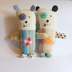 Roxy Creations: Lucy's designs//super cute softies and bag inspired by her child's drawings