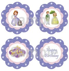 Sofia the First Cupcake Toppers - FREE PDF Download