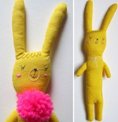 I am 100% smitten with Pinselblues' soft toys & dolls. One of my picks for the latest issue of Babiekins
