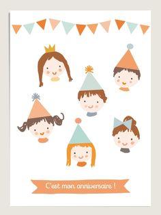 10 Cartes d'anniversaire : Little Cube • www.dioton.fr