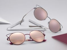 88bc37df61 Super fine curves meets elegant colors in the new Vogue Eyewear collection  of sunglasses. Everyday