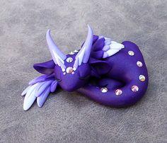 Purple Angel Dragon by DragonsAndBeasties on Etsy