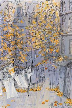 Illustrations / Drawing by artist Natalie Salbieva Art And Illustration, Guache, Motif Floral, Portrait Paintings, Acrylic Paintings, Art Paintings, Urban Sketching, Painting & Drawing, Urban Painting