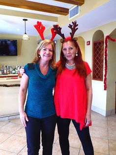 Laurie Francey (Director of Operations) and Sharon Sieradzki (Accounting) at the annual Christmas party.