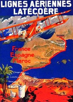 Vintage Africa Travel Posters compagnie de navigation Paquet Classic Canvas Paintings Wall Posters Stickers Home Decor Gift Aeropostale, Airline Travel, Travel And Tourism, Morocco Travel, Africa Travel, Malaga, Perpignan France, Vintage Travel Posters, Vintage Airline