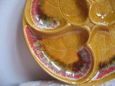 Vintage California Pottery Lazy Susan Santa by vintagenowandthen, $30.00