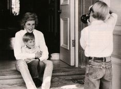 "Princess Diana with Harry and William"" Hugs can do great amounts of good - especially for children."" -Princess Diana"