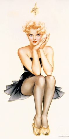 Pin-Up-Girl Paintings by the famous artist Alberto Vargas He is my favorite. Later he changed his name to Varga.