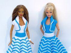 Häkelanleitungen: Puppenkleidung 3-teiliges Sommer-Set