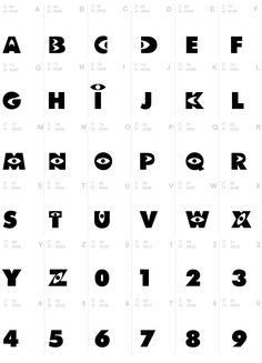 Tipografía de Monster Inc