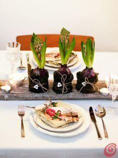 La tavola di primavera on pinterest easter table table settings and napkins - Tavola di primavera idee ...