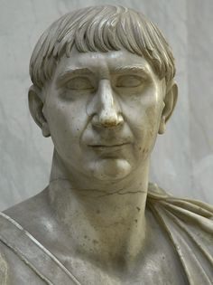 Bust of emperor Trajan. Detail. Marble. 103—117 CE. Inv. No. 2269. Rome, Vatican Museums, Chiaramonti Museum, New wing, 41. (Photo by Sergey Sosnovskiy).