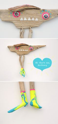 driftwood monster ANTHONY - Wall Design made by JEVO