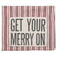 Merry On Tea Towel