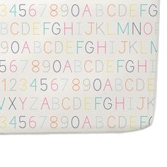 Alphabet Crib Sheet - sweet, colorful and perfect pop of color in the nursery!