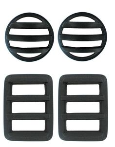 Jeep Light Covers: V-Tech 4-Piece Tough Guard Cover Set 2007-14 JK Wrangler 4586
