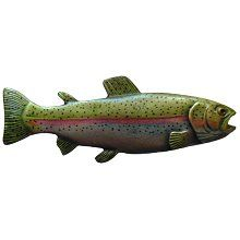 Notting Hill - Rainbow Trout Knob Hand-tinted Antique Pewter (Left side/faces right)
