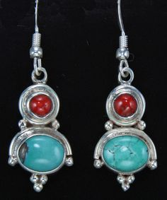 A pair of earrings from Nepal