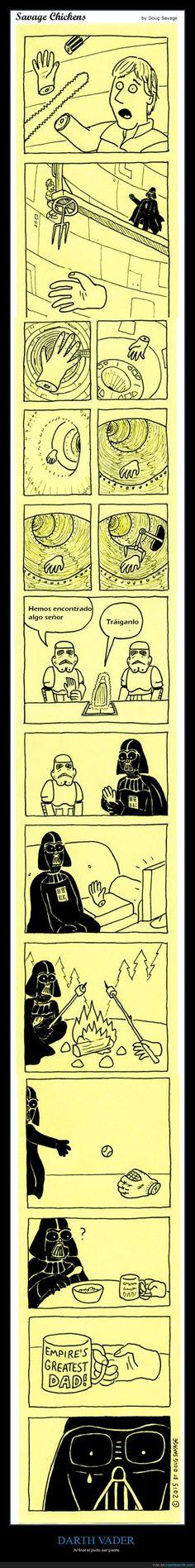 Darth Vader necesitaba un hijo y... - Al final sí pudo ser padre   Gracias a http://www.cuantarazon.com/   Si quieres leer la noticia completa visita: http://www.estoy-aburrido.com/darth-vader-necesitaba-un-hijo-y-al-final-si-pudo-ser-padre/