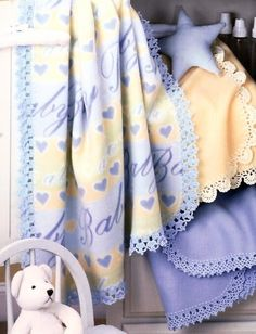 Fleece Baby Blanket Edgings New Crochet by LittleAdorables