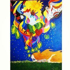 (VENDIDA) - Sonho de criança Acrílica - tela 50X30 arte -art