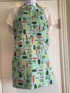 Full apron with one large pocket  whimsical by PrincessThimbelina