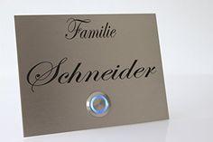 Edelstahl Türklingel Klingel Klingelplatte Schneider mit LED Taster (z.B. weiß / blau...), Acrylplatte und Gravur / Namensgravur CHRISCK design http://www.amazon.de/dp/B00YS9QQI4/ref=cm_sw_r_pi_dp_s59Fvb0WR1DNH