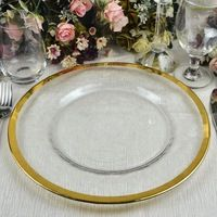 18cm Clear Cheap Glass Bead Serving Charger Plate - Buy Glass Beaded ...