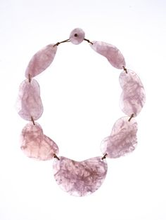 Cloud necklace in Madgascan Rose Quartz by Barbara Harris for Water Jewels