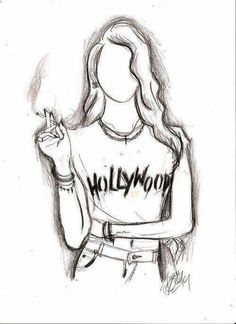 Imagen de hollywood, drawing, and art Easy Pencil Drawings, Easy Drawing Steps, Easy Drawings For Kids, Cool Drawings, Pencil Art, Simple Drawings, Hipster Girl Drawing, Hipster Drawings, Anime Girl Drawings