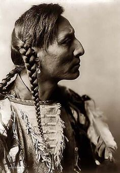 Here for your enjoyment is an inspiring photograph of Spotted Bull, an Indian Brave. It was made in 1908 by Edward S. Curtis.    The photo illustrates Spotted Bull in a head-and-shoulders portrait, right profile.
