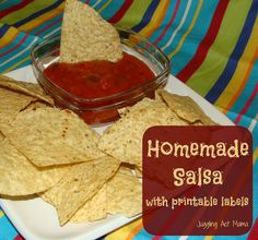 Juggling Act: Mild Salsa (Freezer Recipe) with Printable Labels. Want to compare this recipe with canning ones so I can freeze canning recipes. Salsa Recipe For Freezing, Mexican Dishes, Mexican Food Recipes, Yummy Recipes, Freezer Salsa, Mild Salsa, Recipes Appetizers And Snacks, Homemade Salsa, Freezer Cooking