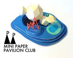 model / paper / architecture / pavilion / miniature / vancouver / MPPC / mini paper pavilion club