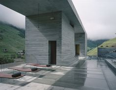 7132 Therme Vals Switzerland (one of my personal favorite buildings ever) Peter Zumthor Architecture, Therme Vals, Unique Architecture, Building Architecture, Brutalist Design, Outdoor Spa, Concrete Floors, Black House, Exterior Design