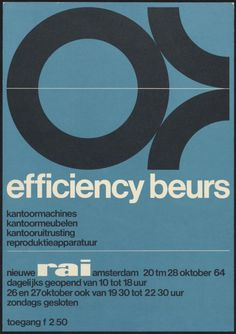 efficiency exhibition poster by Wim Crouwel (1964)