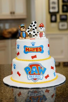 Risultati immagini per torta paw patrol marshall Bolo Do Paw Patrol, Torta Paw Patrol, Cumple Paw Patrol, Paw Patrol Birthday Cake, Paw Patrol Party, Character Cakes, Puppy Party, 4th Birthday Parties, 3rd Birthday