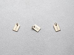 Itty bitty personalized charm  Tiny gold secret by LITTIONARY
