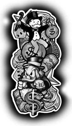 Chicano Tattoos Sleeve, Half Sleeve Tattoos Drawings, Tattoo Sleeve Designs, Tattoo Designs Men, Half Sleeve Tattoo Stencils, Drake Tattoos, Gangsta Tattoos, Men Tattoos, Forearm Sleeve Tattoos